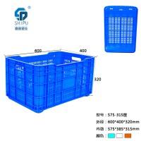重庆涪陵区厂家直销蔬菜水果筐 食品级塑料周转箱批发PE全新料