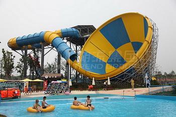 广州潮流水上乐园设备厂家提供大喇叭滑梯A