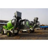 四轮多功能混凝土搅拌车生产厂家 铲车式铲斗搅拌车现货