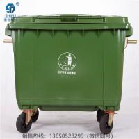 云南厂家批发660L大容量塑料垃圾桶 塑料垃圾车环卫垃圾桶