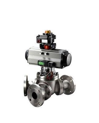Q642F型PN16-PM64气动Y型三通球阀
