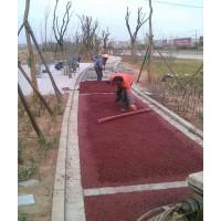 重庆透水地坪材料、彩色沥青改色材料厂家供应施工承包