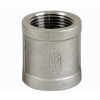 304不锈钢4分双内丝直接管箍