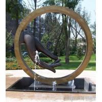 海南工厂定制不锈钢佛手雕塑 别墅抽象水景艺术仿古摆件