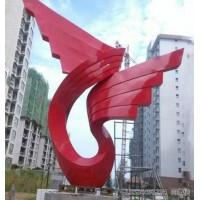 辽宁抽象不锈钢飞翔的翅膀雕塑 仿古铜天使羽翼摆件