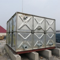 楼顶高位镀锌钢板水箱,镀锌水箱,高位水箱厂家现货供应