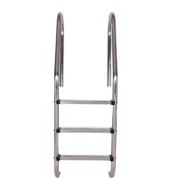 304不锈钢游泳池扶梯 多功能泳池踏板扶梯游泳馆加厚下水扶梯