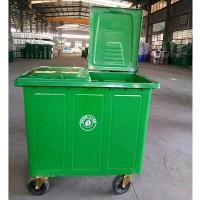 厂家直销 660升铁垃圾桶 户外加厚挂车方桶