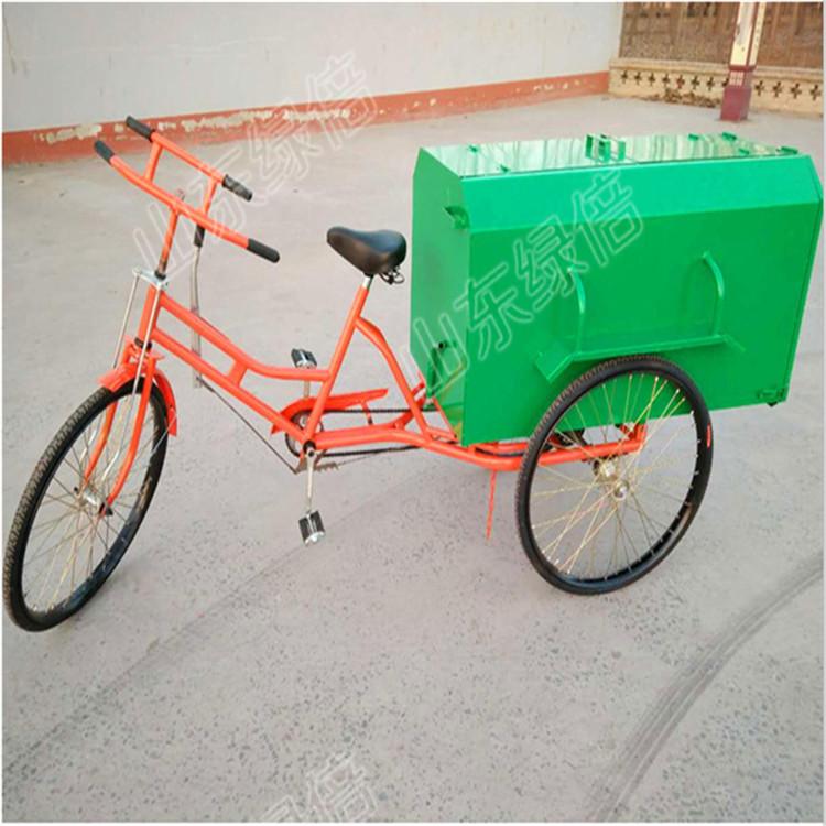 济宁绿倍 人力垃圾车不锈钢板制作