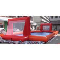 水上足球场水上游乐设备可移动充气水池足球场儿童水上充气足球场