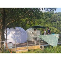 充气房子透明帐篷户外充气露营帐篷泡泡屋防雨防风防蚊虫野营帐篷
