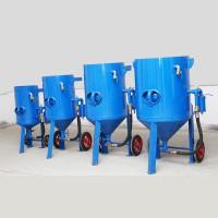 中山喷砂机厂家-大型工件表面处理移动喷砂机