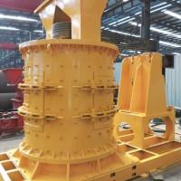 采石场石灰岩重锤立轴制砂机 履带式移动破碎机设备