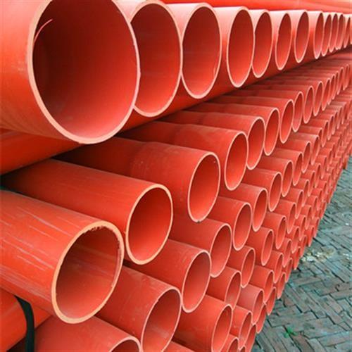 河北CPVC电力管 150PVC电力管 橘红色高压电缆保护管